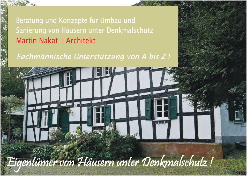 Denkmalschutz Beratung NRW, Martin Nakat